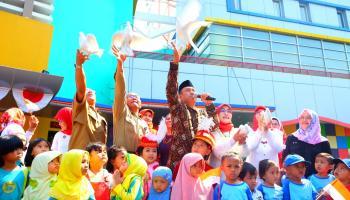 Aksi Seribu Anak dalam Gebyar PAUD ke-11 di Taman Pintar