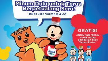Gratis AQUA edisi Mickey Mouse