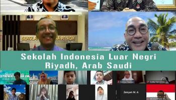 Sekolah Indonesia Luar Negeri Riyadh Kunjungi Taman Pintar Secara Virtual